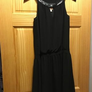 Merona midi black sequins cocktail dress